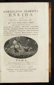 Karta tytułowa Eneidy, Eneida - polski przekład z 1811 roku