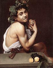 Caravaggio, Chory Bachus. Autoportret Caravaggia w młodości, widoczne cechy choroby